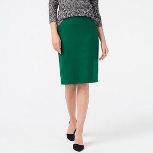 J.Crew wool-blend pencil skirt Alpine Meadow 8